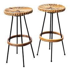 pair of wire and bamboo bar stools by rohe noordwolde at 1stdibs
