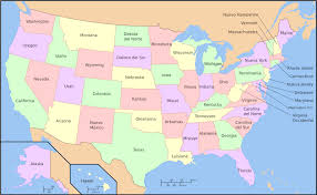 map of the united states with arizona highlighted outline map of the united states with state names usa map