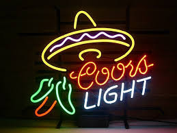 coors light sign amazon urby coors light cayenne real glass neon light sign home beer bar