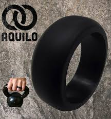 Silicone Wedding Ring by Aquilo Mens 9mm Silicone Wedding Ring Band Hypoallergenic