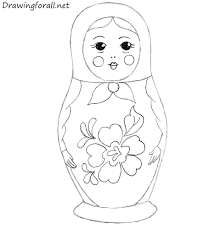 draw matryoshka doll drawingforall net