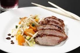 comment cuisiner un filet de canard recette de filet de canard laqué au miel de soja et balsamique wok
