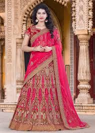 bridal designer marwadi bridal designer lehenga in bhagalpuri silk buy wedding