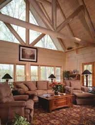 Houseplansandmore Com by Sitka Rustic Country Log Home Living Room Photo 01 From