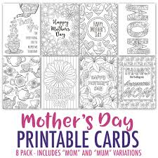 mother u0027s day coloring cards 8 pack sarah renae clark