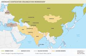 Map Of China And India by The Shanghai Cooperation Organization Council On Foreign Relations