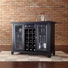 Black Bar Cabinet Sliding Top Bar Cabinet With Amazon Com Crosley Newport Black