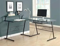 Corner Desk Metal Desk Small Metal Corner Desk Walker Edison Glass Metal Black