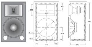 Bass Speaker Cabinet Design Plans Ciare 15 00 W2 15 500 Watt 8ohm Pa Speaker