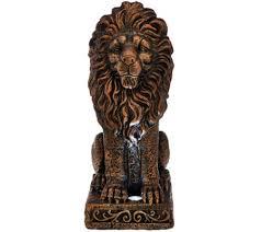 gold lion statue solar garden lion statue page 1 qvc