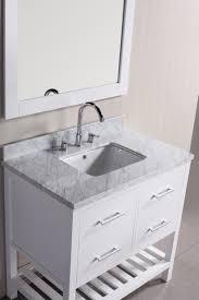 96 Bathroom Vanity by Adelina 24 Inch Mirrored Bathroom Vanity Imperial White Marble Top