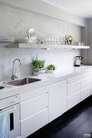 meuble cuisine blanc laqué la cuisine adopte la couleur blanche déco cool