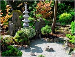 Backyards  Innovative Lawn Gardendeluxe Asian Style Backyard Rock - Asian backyard designs