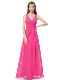 women v neck long formal prom dress cocktail party ball gown 08110