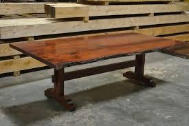 Oak Slab Table by Stained Red Oak Table U2013 Live Edge Slab Tables Pinterest Oak
