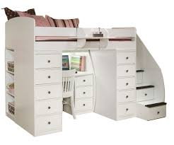 desk beds for girls sierra 22 808 twin loft bed with two chests and desk space saver