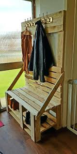 coat rack with seat bench and entryway metal storage by home