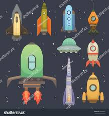 rocket ship cartoon style new businesses stock vector 649860802