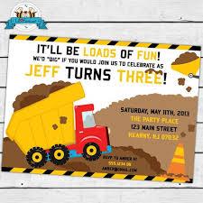 truck birthday invitations wblqual com