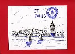 london city sketch thames river drawing by anna potanina