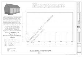 home workshop plans g442 30 x 50 x 12 8 12 pitch workshop garage plans blueprints