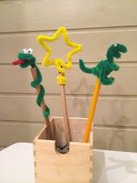 mommo design with a pipe cleaner pencil toppers kids stuff