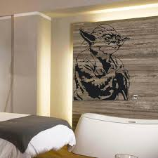 online get cheap childrens wall murals aliexpress com alibaba group large yoda star wars childrens bedroom wall mural sticker transfer vinyl cut decal stencil home decor