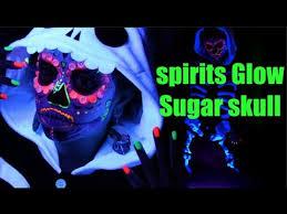 glow in the makeup sugar skull black light uv makeup tutorial spirits glow