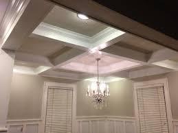 decorations coffered ceiling living room design home decor ideas