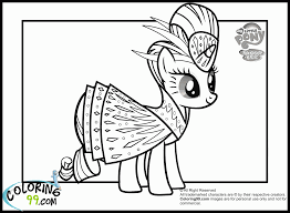 mlp rarity coloring page coloring home