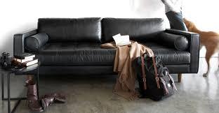 Modern Leather Sofa Black Sven Oxford Black Sofa Scandinavian Furniture Sofa Sofa And