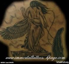 wing tattoos on back 3d ripped skin broken angel wings tattoo on upper back photos