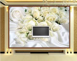 online get cheap mural large white rose aliexpress com alibaba beibehang wallpaper custom made large 3d wallpaper white silk rose photo mural wallpaper background wall wallpaper