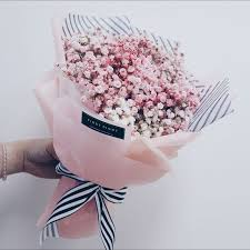 baby breath korean style inspired pink hues baby breath bouquet
