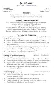 Objective With Summary Of Skills by Administrative Resume Sample Objective Summary Of Qualifications