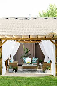 Pergola Shade Covers by Best 25 Pergola Curtains Ideas On Pinterest Deck With Pergola
