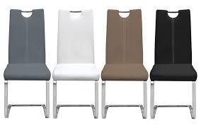 chaise en métal et pu design erina
