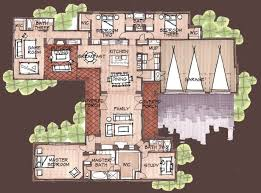 Luxury Mansion House Plan First Floor Floor Plans House Plans U Shaped With Courtyards First Floor Plancopyright