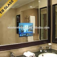 bathroom tv ideas 5mm magic mirror glass hotel shower room flat screen