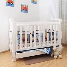 White Sleigh Cot Bed Super Nanny Deluxe Sleigh Cot White Super Nanny Baby Cots