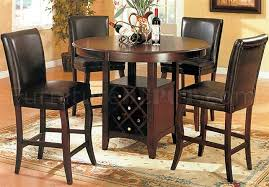 Dining Room Table With Wine Rack Cherry Finish Counter Height Dinette Table W Wine Rack Base