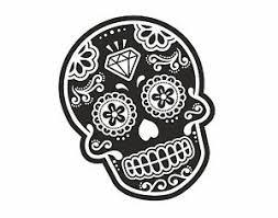 b u0026w mexican day of the dead sugar skull tattoo design vinyl car