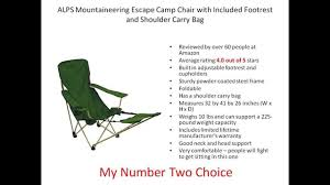 Folding Chair With Canopy Top by Best Camping Chair With Footrest Top 3 Chairs Reviewed Youtube