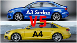 2009 audi a4 vs bmw 3 series 2017 audi a3 sedan vs audi a4