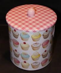 cupcake canisters for kitchen set of 4 boxes vintage inspired storage tin boxes with by maamoon