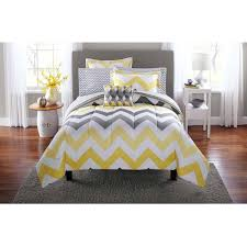 home design mainstays yellow grey chevron bed in a bag bedding