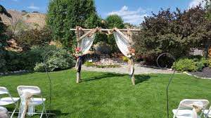 wedding arch log photo gallery