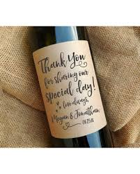 wedding favor labels slash prices on thank you wine bottle labels wedding favor gift