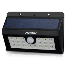 mpow super bright 20 led solar light weatherproof outdoor motion