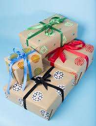 learn how to potato print your own christmas wrapping paper with